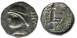 Ancient Coins - ITEM #19648, KINGS OF PARTHIA PHRAATES II 132-127 BC., DRACHM (AR) UNKNOWN MINT (AMVO), SELLWOOD TYPE 16., SHORE --, EXTREMELY RARE, UNPUBLISHED UNIQUE YET