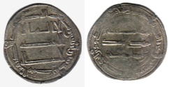 Ancient Coins - ITEM #13144 ABBASID EMPIRE (MEDIEVAL ISLAM), TEMP. AL-MANSUR (AH 136-158), SILVER DIRHAM, 148AH, AL-MUHAMMADIYA mint (previously known as al-RAYY NEAR TEHRAN, IRAN), ALBUM #213.2