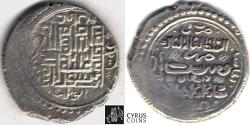 Ancient Coins - Item #31138 Ilkhanid (Persian Mongols) Abu Sa'id (AH 716-736) AR silver 6-dirham, Damghan mint, YEAR 33 khani (AH 735) , Album 2217 (type H) Diler Ab #542 bilingual: Uighur Arabic