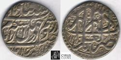 Ancient Coins - ITEM #34163, PERSIAN SILVER COIN, KARIM KHAN ZAND, ABBASI, SHIRAZ MINT, DATED AH1178 (AD1765), TYPE B, KM #515, ALBUM 2799, DO NOT MISS ON THIS PIECE OF HISTORY