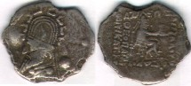 Ancient Coins - Item #19509, Parthian Gotarzes I (sellwood & Shore) OR Sinatruces  (Assar), drachm!!, Sellwood #33.4, Rhagae mint, COPPER CORE, PLATED, CONTEMPORARY FORGERY, COLLECTIBLE