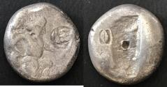 Ancient Coins - ITEM #1143, ANCIENT PERSIAN EMPIRE ACHAEMENID KINGS, (Asia Minor), SILVER SIGLOS ARTAXERXES II - III ca.375-340 BC, with dagger, Quiver and bow type. Carradice Type IV/c, Sear 4623