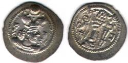 Ancient Coins - ITEM #20135 SASANIAN (ANCIENT Persia), PEROZ (FIRUZ) I (AD 457-484), AR drachm, GW (Qumm mint), NOT DATED, SIMILAR TO SELLWOOD 48/49 var., GÖBL type IIIb/1 (#176), EF/ AU