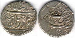 Ancient Coins -    Item #3472, IRANIAN silver coin, Karim Khan Zand, 2-Abbasi, Rasht (1185AH) Type C, KM #523