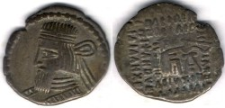 Ancient Coins -     Item #19551, Parthian Kings: Arsaces XXVI: (Sellwood: Artabanus II) (Assar: Artabanus IV) A.D. 10-38, AR drachm, Sellwood #63.6, Ecbatana mint