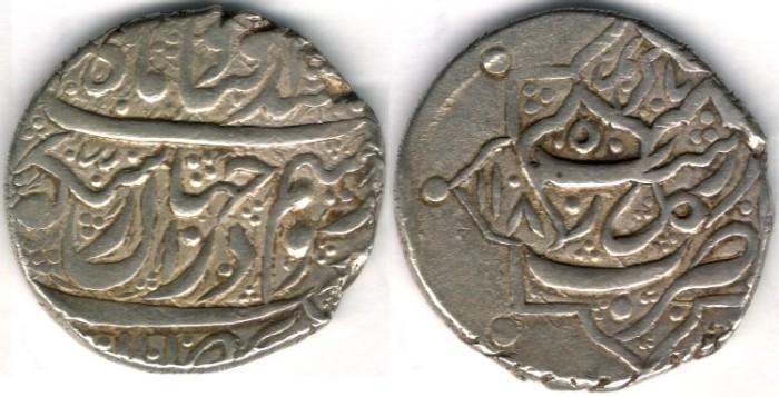 World Coins -    Item #3472, IRANIAN silver coin, Karim Khan Zand, 2-Abbasi, Rasht (1185AH) Type C, KM #523