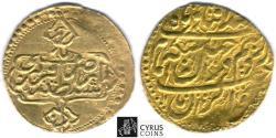 Ancient Coins - Item #34165, IRANIAN GOLD 1/4 Mohur, Karim Khan Zand, 1/4 ashrafi, Qazvin mint, dated 1190AH (1776) Type C, KM #525.5, Album 2791, historical token as a great gift idea!!