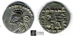 Ancient Coins - Item #19656, KINGS OF PARTHIA Pacorus / Pakoros ca 78-120 AD. AR diobol, Persis or Ecbatana mint, Sellwood: New Parthian Coin Types in NumChron 1989, pl. 42, 8, Shore 402, RARE