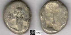 Ancient Coins - ITEM #11127, ANCIENT PERSIAN EMPIRE ACHAEMENID KINGS, (SARDIS) AR SIGLOS, TEMP. ARTAXERXES II-ARTAXERXES III (CA. BC 375-340), WITH DAGGER, QUIVER AND BOW TYPE, LYDIA ( Ach 197)