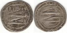 Ancient Coins - Item #1371 Abbasid (Medieval Islam), al-Mahdi (AH 158-169), Silver Dirham, 161AH, al-Abbasiya, Album 215.2, Hard to find!!