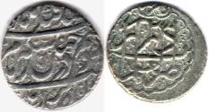 Ancient Coins - ITEM #34142, IRANIAN SILVER COIN, KARIM KHAN ZAND, ABBASI, SHIRAZ (DATED 1181AH) TYPE C, KM #522, ALBUM 2800, NICE DEEP STRIKE