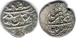 Ancient Coins - ITEM #34103, IRANIAN SILVER COIN, KARIM KHAN ZAND, 2-ABBASI, KIRMAN MINT (Dateless) TYPE C, KM #523, ALBUM 2796. scarce mint
