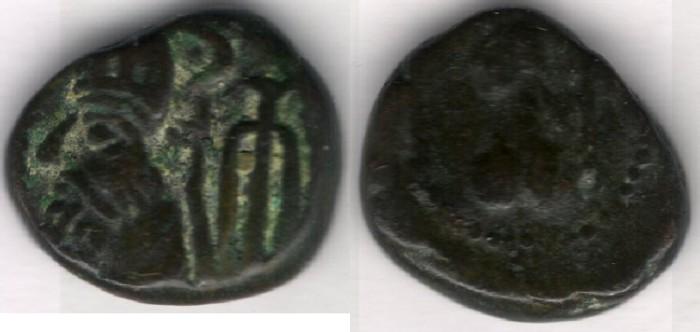 Ancient Coins - Item #5364 Ancient Persia, Elymais Dysnasty, Orodes III (2nd century AD), AE drachm, (De Morgan Types 25.1), van't Haaff 16.2-1-2B