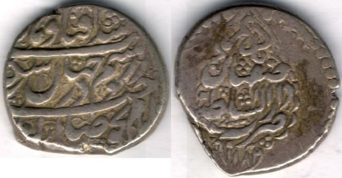 World Coins -    Item #3478, IRANIAN silver coin, Karim Khan Zand, 2-Abbasi, Isfahan (1182AH) Type C, KM #523