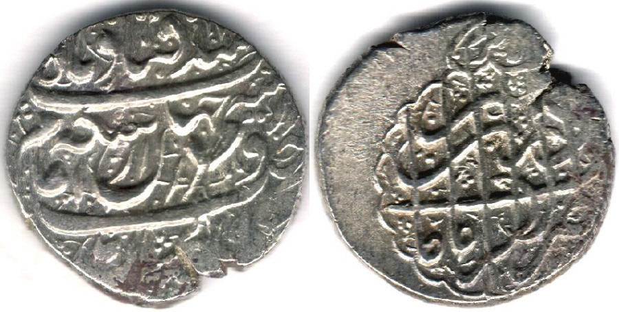 World Coins - ITEM #34103, IRANIAN SILVER COIN, KARIM KHAN ZAND, 2-ABBASI, KIRMAN MINT (Dateless) TYPE C, KM #523, ALBUM 2796. scarce mint