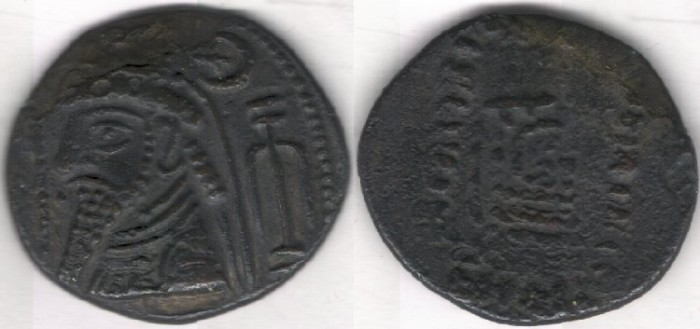 Ancient Coins - Item #5333 Ancient IRAN: KINGS of ELYMAIS. Uncertain king. Late 1st century BC - early 1st century AD. Æ tetradrachm (29mm, 14.24 gr.) van't Haaff 10.4-1-1