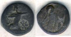 Ancient Coins - ITEM #1144, ANCIENT PERSIAN EMPIRE ACHAEMENID KINGS, temp. Artaxerxes III to Darios III. Circa 350-333 BC. Æ unit, Uncertain mint in western Asia Minor (Ionia or Sardes?)