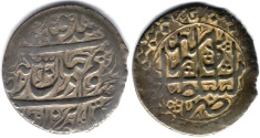 Ancient Coins - ITEM #34143, IRANIAN SILVER COIN, KARIM KHAN ZAND, ABBASI, TABRIZ (DATED 1181AH) TYPE C, KM #522, ALBUM 2800, nice and flawless flan