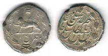 Ancient Coins -      Item #35329 Qajar (Iranian Dynasty) Nasir al-Din Shah (AH 1264-1313) SILVER Qiran, Tehran طهران  AH1295, SUN & LION, VERY RARE, KM 845.2 (One yea