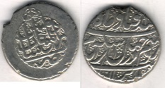 Ancient Coins - Item #3487, IRANIAN silver coin, Karim Khan Zand, 2-Abbasi, Kashan (dated 1182AH) Type C, KM #523, Album 2796, as good as it gets!! Perfect strike!