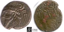 Ancient Coins - Item #5374 Ancient PERSIA: KINGS of ELYMAIS. Uncertain Early Arsacid kings. Late 1st century BC - early 1st century AD. Æ tetradrachm (27 x 25mm, 14.76 gr.) van't Haaff 10.3-1-1