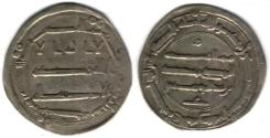 Ancient Coins - Item #13102 Abbasid Empire (Medieval Islam), temp. al-Mansur (AH 136-158), Silver dirham, 152AH, al-Muhammadiya (Reyy near Tehran, Iran) mint, Album #213.2