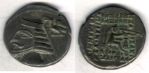 Ancient Coins - Item #19600, Parthian Kings: Arsaces XXI: Phraates IV (38 - 2 B.C), AR drachm, Sellwood #52.10, Shore 276, Ecbatana mint, good XF nice black toning