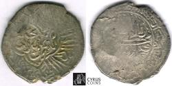 Ancient Coins - ITEM #32445 SAFAVID DYNASTY: MUHAMMAD KHUDABANDAH (AH 985-995) SILVER 2-SHAHI (muhammadi), LAHIJAN MINT, NO DATE, ALBUM #2624 WITH COUNTERMARK ON TYPE A 2620 FROM SAME RULER, XF