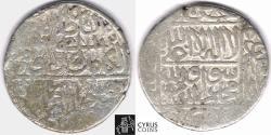 Ancient Coins - Item 32479 Safavid (Persian Dynasty) Isma'il I (AH 907-930 =AD 1501-1524) silver 1/2 Shahi (pul), No mint (Herat?), AH 922 = AD 1516, Album #2577, The Founder of Safavid dynasty!