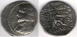 Ancient Coins - Item #19595 KINGS OF PARTHIA, ARSACES XVI CA 78/7-62/1 BC. DRACHM (AR; 19-18MM; 3.31 gr.) Susa MINT. Sellwood 30.19, PDC 4748 Very rare coin