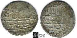 Ancient Coins - ITEM #32398 SAFAVID DYNASTY: SHAH SULTAN HUSSEIN (AH 1105-1135) SILVER ABBASI, Tiflis (Tbilisi) mint, DATED AH1107 (AD1696), ALBUM #2674 TYPE B, rare with MINT & DATE, KM 258