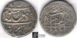 Ancient Coins - ITEM #34154, IRANIAN SILVER COIN, KARIM KHAN ZAND, 2-ABBASI, Mazandaran MINT, AH 1185/AD 1771, TYPE C, KM #523, ALBUM 2796. good very Fine. A great addition to your collection