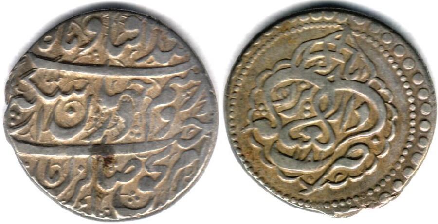 World Coins - ITEM #34146, IRANIAN SILVER COIN, KARIM KHAN ZAND, ABBASI, YAZD mint (DATED 1181AH) TYPE C, KM #522, ALBUM 2800, NICE AND FLAWLESS FLAN
