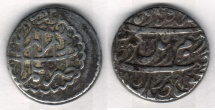 Ancient Coins - Item #3481, IRANIAN silver coin, Karim Khan Zand, 2-Abbasi, Shiraz (dated 1182AH on both sides) Type C, KM #523, Album 2796, Affordable Piece of History