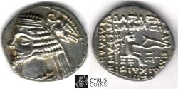 Ancient Coins - Item #19674, Parthian Kings: Arsaces XXI: Phraates IV (38 - 2 B.C), AR drachm, Sellwood #52.30, Shore 285, Court of SUSA (travelling mint) A very rare coin from a rare mint!!