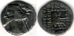 Ancient Coins - Item #19601, Parthian Kings: Arsaces XXI: Phraates IV (38 - 2 B.C), AR drachm, Sellwood #52.10, Shore 278, Ecbatana mint, good VF great value for the price!