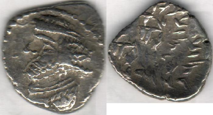 Ancient Coins - Item #47106 Kings of Persis, VAHSHIR (Oxathres) ca. 2nd half of first century BC, AR hemidrachm, Alram 563, Tyler-Smth CN (2004) #127
