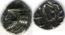 Ancient Coins - Item #47113 Kings of Persis, VAHSHIR (Oxathres) ca. 2nd half of first century BC AR obol, Alram 581, Tyler-Smth CN (2004) #134