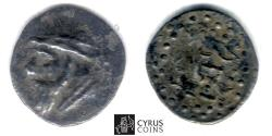Ancient Coins - Item #19658, Parthian Empire Arsaces XI : Mithradates II (121-91 B.C), AR obol, Sellwood ---, Shore ..., Eastern mint?, good Very Fine , nicely toned patina, UNPUBLISHED RRR