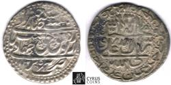 World Coins - Item #32383 Safavid (Persian Dynasty) Tahmasp II (AH 1135-1145) Silver abbasi, minted in Tabriz dated in AH 1135 (AD 1722), Album 2689.1, KM #303, ZENO 212041, first year of reign!