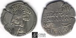 Ancient Coins - Item #19687, KINGS OF PARTHIA VOLOGASES VI CA 208-228 AD. DRACHM (AR; 20 mm; 3.59gr) ECBATANA MINT. Sellwood 88.20, Shore 459 SCARCE