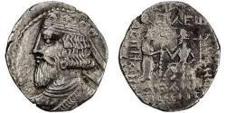 Ancient Coins - Item #19636, Parthian Kings: (Sellwood: Artabanus III) & (Assar: Artabanos V) ca. AD 80-85, BI tetradrachm, Sellwood #74.3 var., Seleucia mint, dated Feb. 81 AD=(SE 392), VERY RARE