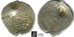 Ancient Coins - ITEM #32429 SAFAVID DYNASTY: MUHAMMAD KHUDABANDAH (AH 985-995) SILVER 2-SHAHI / or muhammadi, QAZVIN MINT, AH992 (AD1585), ALBUM 2624 WITH COUNTERMARK ON type A OF THE SAME RULER