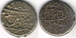 Ancient Coins -    Item #3477, IRANIAN silver coin, Karim Khan Zand, 2-Abbasi, Shiraz (1181AH) Type C, KM #523