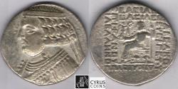 Ancient Coins - ITEM #19716, KINGS OF PARTHIA, Orodes II 57-38 BC., silver TETRADRACHM MINTED IN SELEUCIA, SELLWOOD 48.1var., very popular/impressive coin, PRICED TO SELL
