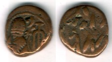 Ancient Coins - Item #5354 Ancient Persia, Elymais Dysnasty, Orodes III (2nd century AD), AE drachm, (De Morgan Type 28), van't Haaff 16.4-2-1B