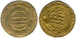 Ancient Coins - ITEM #1433 FATIMID, AL-MANSUR (AH 334-341/AD 946-953) AV gold DINAR, al-Mansuriyah المنصوریه MINT, DATE AH427 VERY RARE/ (FIRST YEAR FOR THIS MINT) , ALBUM 694, Nicol 215 type B
