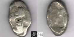 Ancient Coins - ITEM #11125, ANCIENT PERSIAN EMPIRE ACHAEMENID KINGS, (SARDIS) AR SIGLOS, TEMP. ARTAXERXES II-ARTAXERXES III (CA. BC 375-340), WITH DAGGER, QUIVER AND BOW TYPE, LYDIA ( Ach 162)
