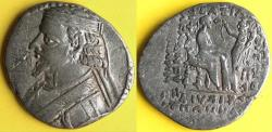 Ancient Coins - Item #19638, Parthian Kings: Arsaces XXIII: Phraataces / Phraates V (2 BC- AD 4), AR tetradrachm, Sellwood #56.2-5 var., Seleucia mint, SCARCE (June 2 BC)