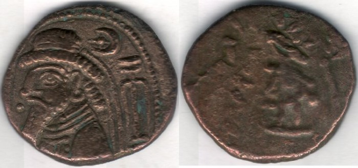 Ancient Coins -              Item #5365 Ancient IRAN: KINGS of ELYMAIS. Kamnaskires VI (Sear ??) AE tetradrachm, van't Haaff 10.3/4 var. (Uncertain king) RARE new variety